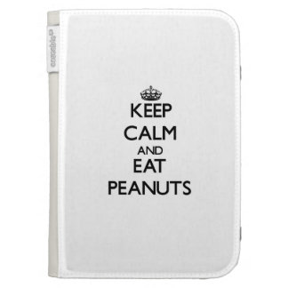 Keep calm and eat Peanuts Case For The Kindle