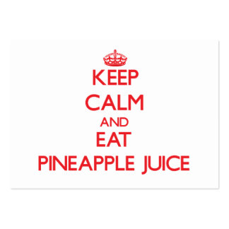 Keep calm and eat Pineapple Juice Business Card Template