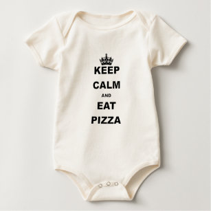 KEEP CALM AND EAT PIZZA BABY BODYSUIT