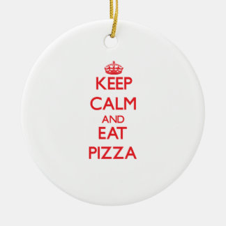 Keep calm and eat Pizza Christmas Ornament