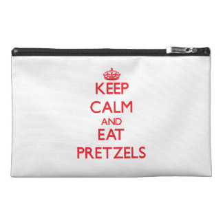 Keep calm and eat Pretzels Travel Accessories Bags