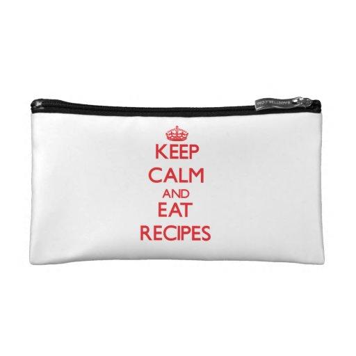 Keep calm and eat Recipes Makeup Bag