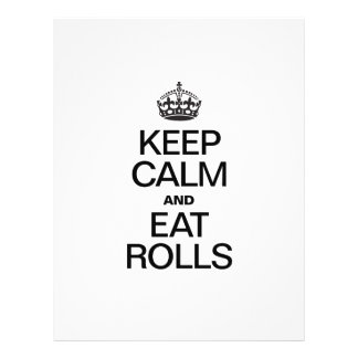 KEEP CALM AND EAT ROLLS.ai Personalized Flyer