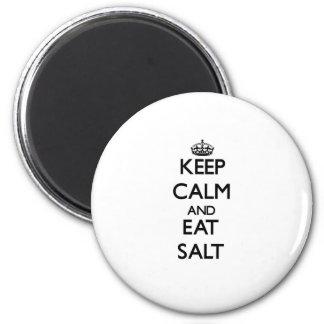 Keep calm and eat Salt 6 Cm Round Magnet