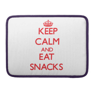 Keep calm and eat Snacks Sleeve For MacBooks