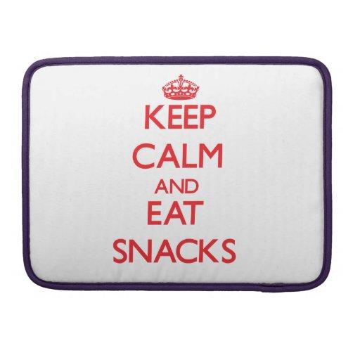 Keep calm and eat Snacks Sleeve For MacBooks