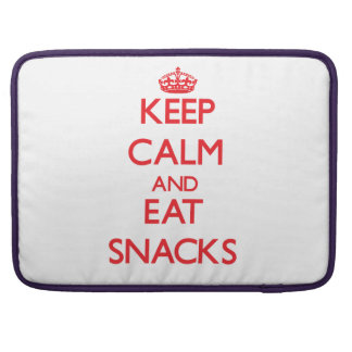 Keep calm and eat Snacks Sleeves For MacBook Pro