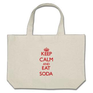 Keep calm and eat Soda Tote Bags