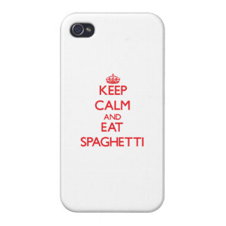 Keep calm and eat Spaghetti iPhone 4/4S Cases