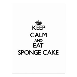 Keep calm and eat Sponge Cake Postcard