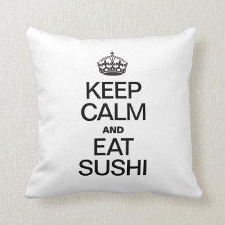 KEEP CALM AND EAT SUSHI CUSHION
