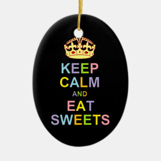 Keep Calm and Eat Sweets Christmas Ornament