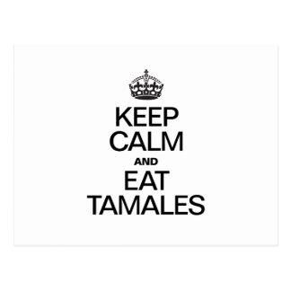 KEEP CALM AND EAT TAMALES POSTCARD
