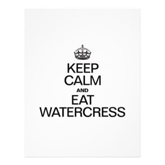 KEEP CALM AND EAT WATER CHESTNUTS CUSTOM FLYER