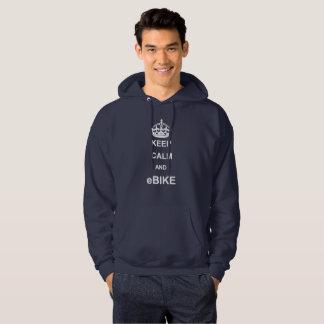 """""""Keep calm and eBike"""" custom hoodies for men"""