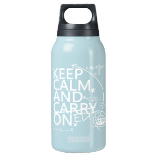 Keep Calm and Edit On (in any color) Insulated Water Bottle