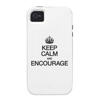 KEEP CALM AND ENCOURAGE iPhone 4/4S CASES