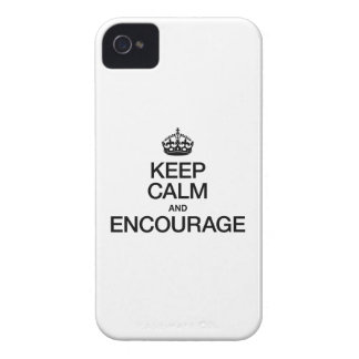KEEP CALM AND ENCOURAGE iPhone 4 COVERS