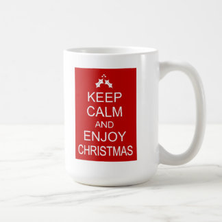 KEEP CALM AND ENJOY CHRISTMAS BASIC WHITE MUG
