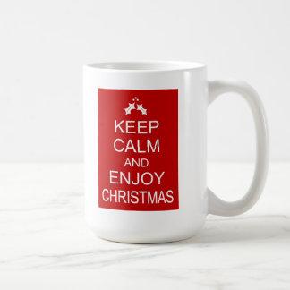 KEEP CALM AND ENJOY CHRISTMAS COFFEE MUG