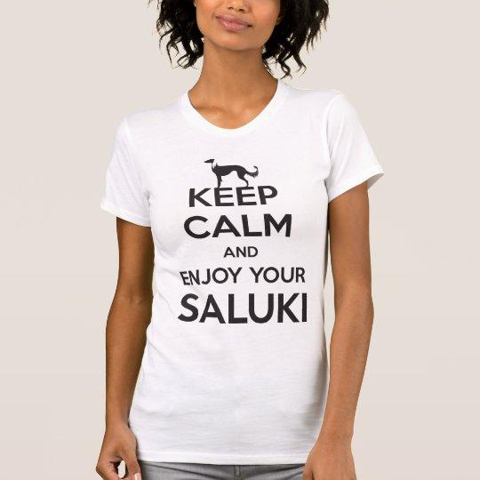Keep Calm and Enjoy your Saluki T-Shirt