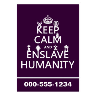 Keep Calm and Enslave Humanity (robots) Pack Of Chubby Business Cards