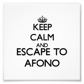 Keep calm and escape to Afono Samoa Photo Art