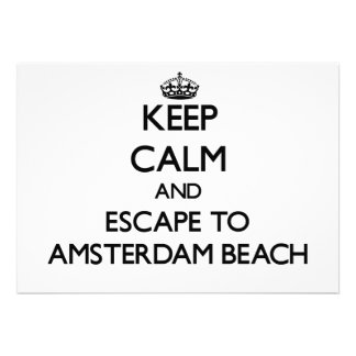 Keep calm and escape to Amsterdam Beach Wisconsin Card