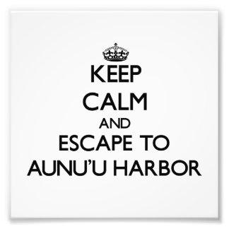 Keep calm and escape to Aunu'U Harbor Samoa Art Photo