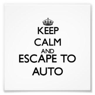 Keep calm and escape to Auto Samoa Photo Print