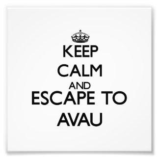 Keep calm and escape to Avau Samoa Art Photo