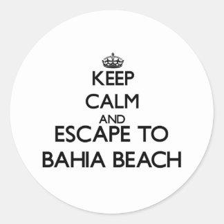 Keep calm and escape to Bahia Beach Florida Sticker