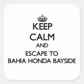 Keep calm and escape to Bahia Honda Bayside Florid Square Sticker