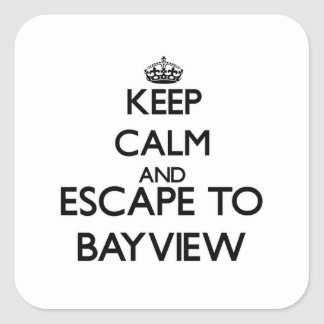 Keep calm and escape to Bayview Massachusetts Sticker
