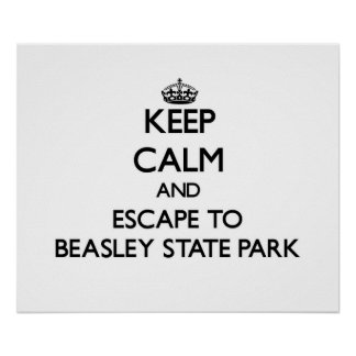 Keep calm and escape to Beasley State Park Florida Print