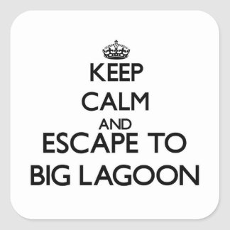 Keep calm and escape to Big Lagoon California Stickers