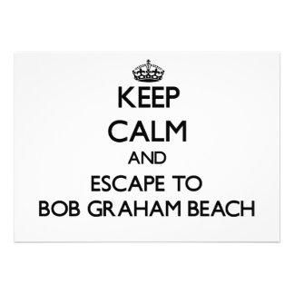 Keep calm and escape to Bob Graham Beach Florida Card