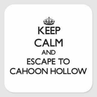 Keep calm and escape to Cahoon Hollow Massachusett Square Stickers