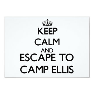 Keep calm and escape to Camp Ellis Maine Invites