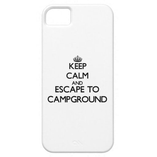 Keep calm and escape to Campground Massachusetts iPhone 5/5S Cases