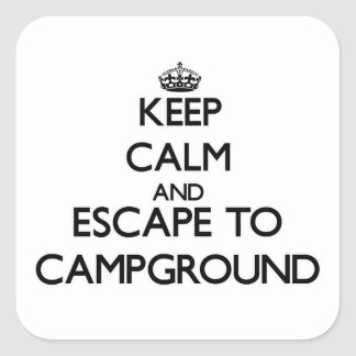 Keep calm and escape to Campground Massachusetts Sticker