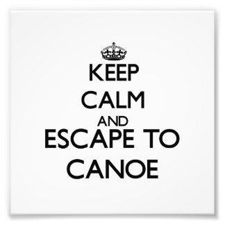 Keep calm and escape to Canoe Massachusetts Photo Print