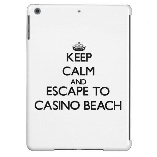 Keep calm and escape to Casino Beach Florida Cover For iPad Air