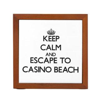 Keep calm and escape to Casino Beach Florida Desk Organizers