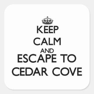 Keep calm and escape to Cedar Cove Massachusetts Stickers