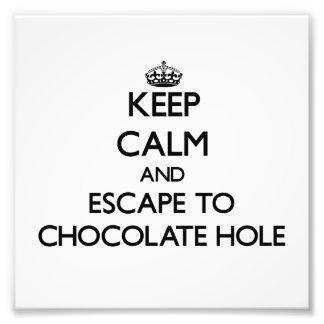 Keep calm and escape to Chocolate Hole Virgin Isla Photographic Print