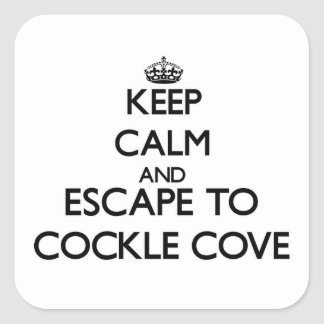 Keep calm and escape to Cockle Cove Massachusetts Sticker