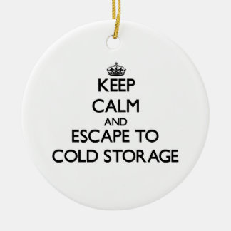 Keep calm and escape to Cold Storage Massachusetts Christmas Ornament