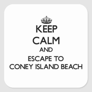 Keep calm and escape to Coney Island Beach New Yor Stickers