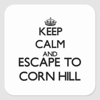 Keep calm and escape to Corn Hill Massachusetts Square Sticker